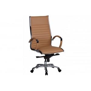 HAMBURG bőr íróasztali szék - caramel Irodai székek