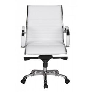 HAMBURG S bőr íróasztali szék - fehér Irodai székek