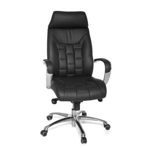 TORINO bőr irodai szék - fekete Irodai székek