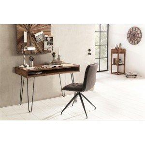 JAIPUR tömör rózsafa íróasztal fém lábakkal Íróasztalok