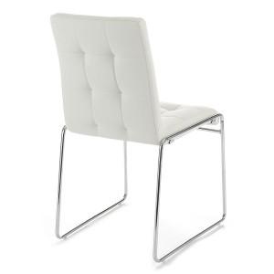 BERGAMO design szék - fehér Karfa nélkül