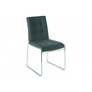 BERGAMO design szék - antracit Karfa nélkül