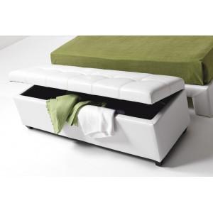 ALESSIO fehér ágyelő/ülőpad Ülőbútor