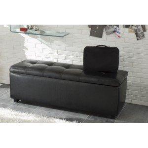 ALESSIO fekete ágyelő/ülőpad Ülőbútor