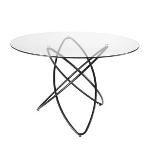 FERRARA GLASS üveg étkezőasztal fém lábakkal Étkezőasztalok