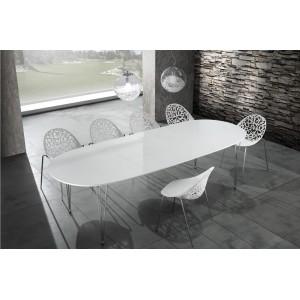 ELEGANT bővíthető magasfényű design étkezőasztal 170-270cm Étkezőasztalok