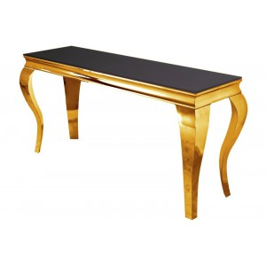MODERN BAROCK design konzolasztal  - arany Asztal