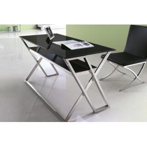 ALESSIA design íróasztal - fekete/króm Íróasztalok