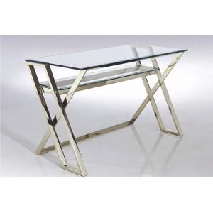 ALESSIA design íróasztal - üveg/króm Íróasztalok