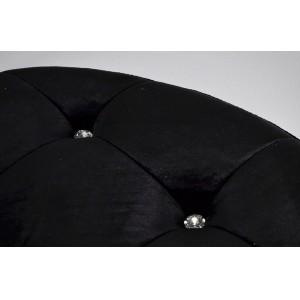 MADEMOSIELLE design puff - fekete/ezüst Ülőbútor